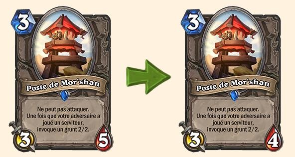 Hearthstone (20.0.2) : Équilibrage pour Poste de Mor'shan