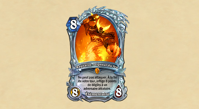 Carte diamant : Ragnaros, seigneur du feu