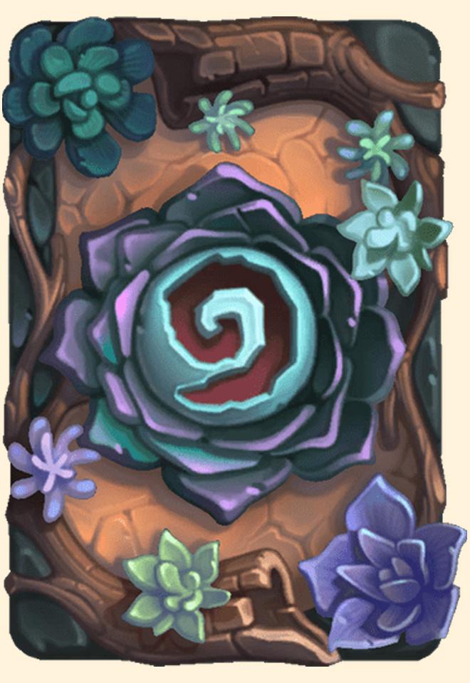 Dos de carte Hearthstone - Fleur du désert - Saison 71