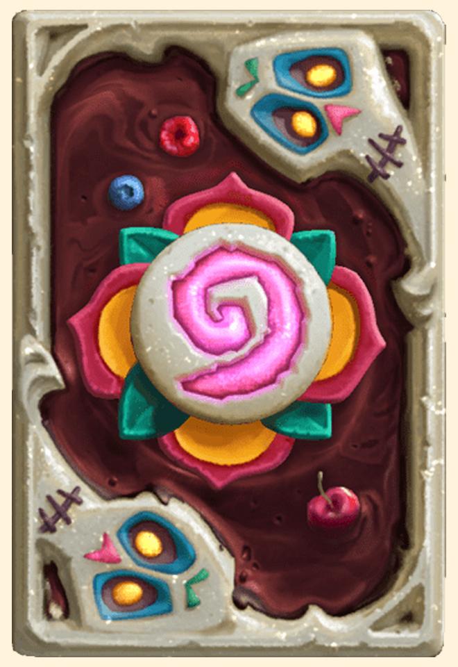 Dos de carte Hearthstone - Gâteau des morts - Saison 68