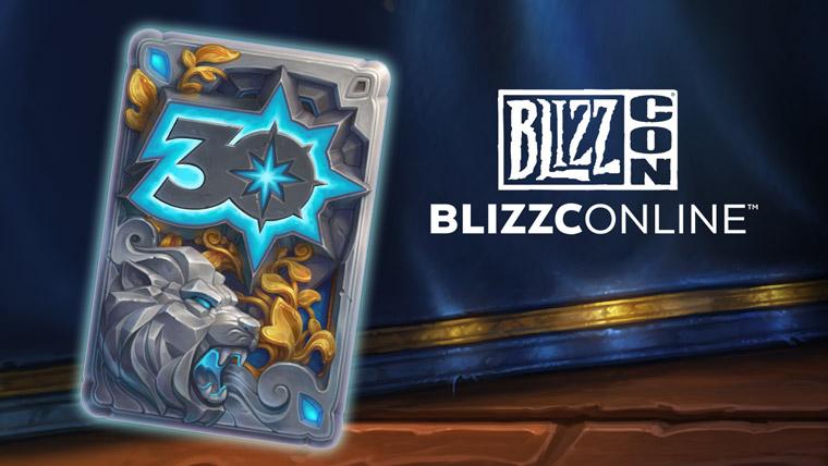 Dos de carte 30 ans de Blizzard
