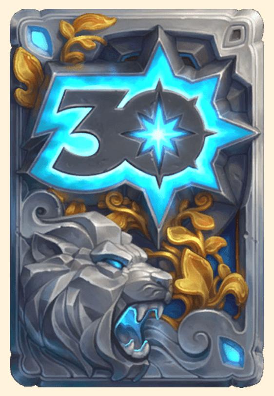 Dos de carte Hearthstone - Les 30 ans de Blizzard