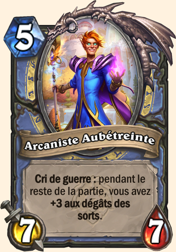 Carte Hearthstone - Arcaniste Aubétreinte