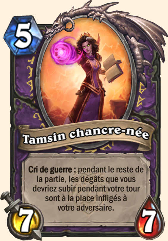Carte Hearthstone - Tamsin chancre-née