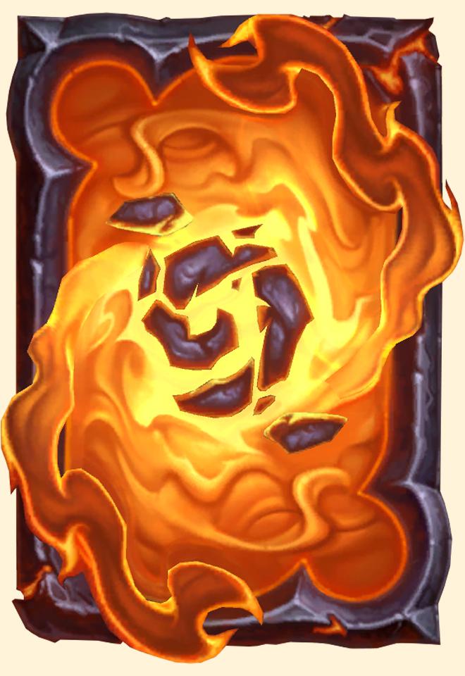 Dos de carte Hearthstone - Seigneur du feu