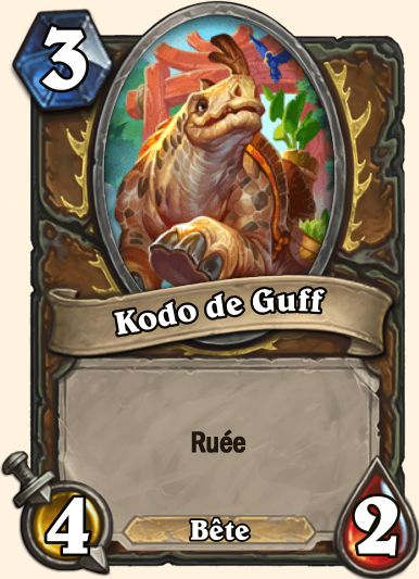 Carte Hearthstone - Kodo de Guff