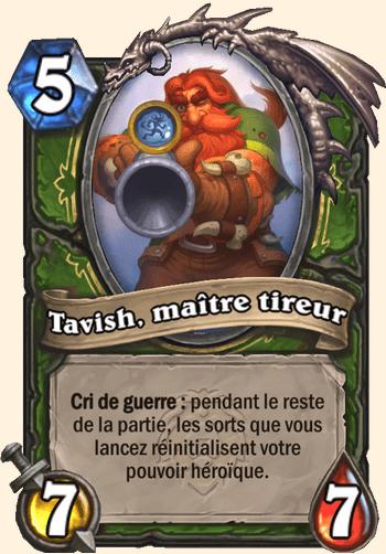 Carte Hearthstone - Tavish, maître tireur