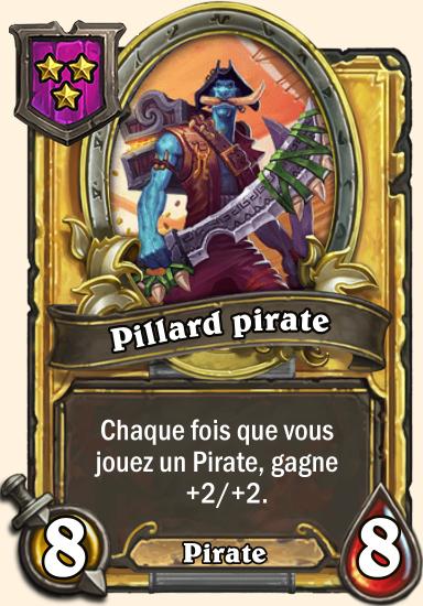 Carte champs de bataille dorée Pillard pirate