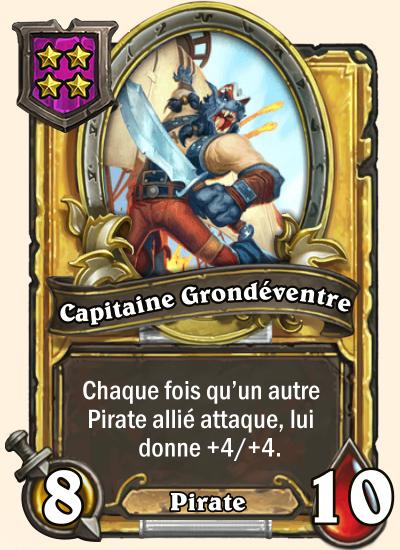 Carte champs de bataille dorée Capitaine Grondéventre