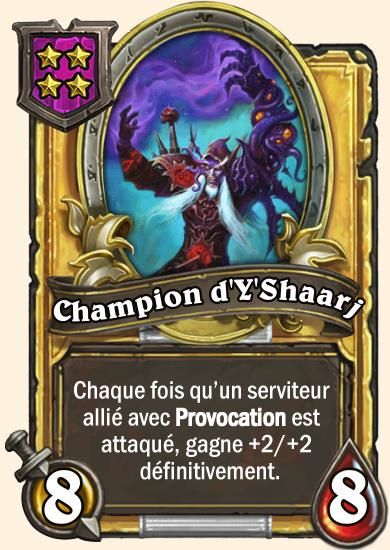 Carte champs de bataille dorée Champion d'Y'Shaarj