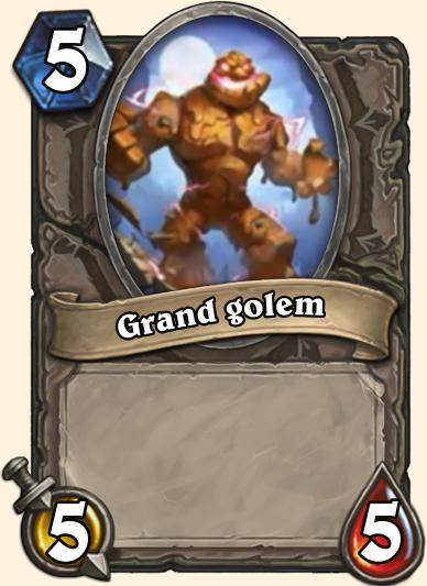 Grand Golem Carte Hearthstone