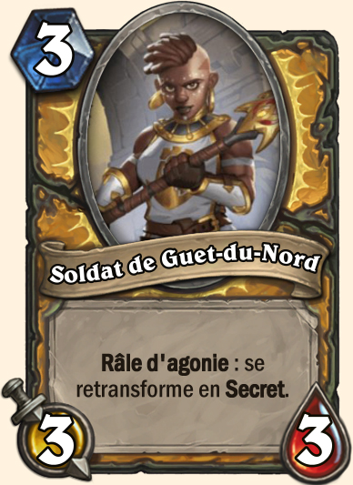 Soldat de guet-du-nord Carte Hearthstone