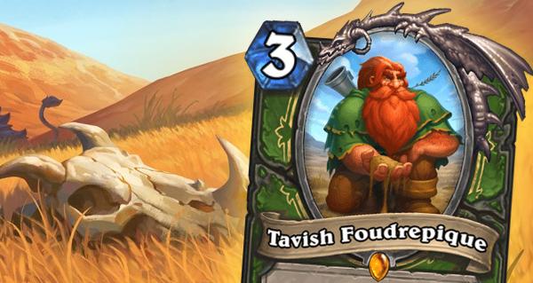 tavish foudrepique : carte legendaire pour chasseur des tarides