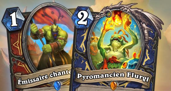les tarides : 2 cartes dont la legendaire pyromancien flurgl