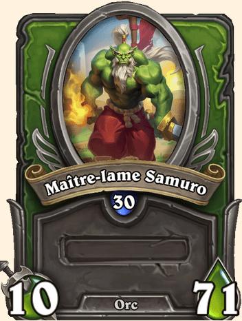 Mercenaires Hearthstone - Maître-lame Samuro