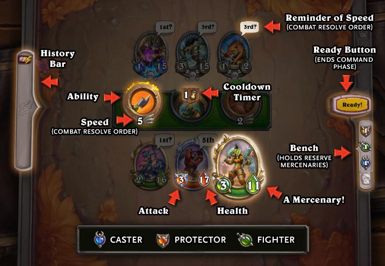 Mode Mercenaires : Plateau du mode de jeu Hearthstone