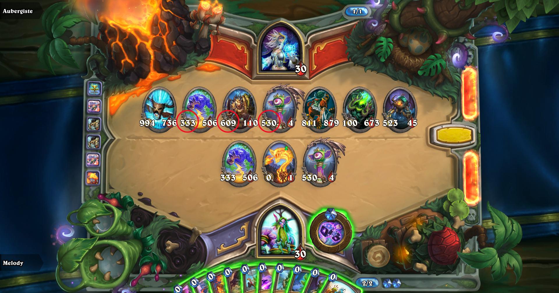 Puzzle Druide : Calcul des points d'attaque
